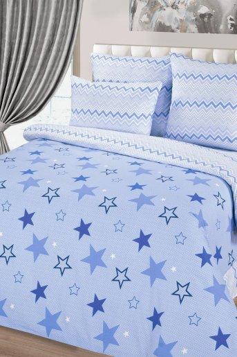 Звездный (поплин) (Синий) - Дамит