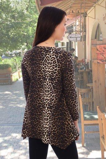 """Блузка 10468 """"Н"""" (Леопард) (Фото 2)"""