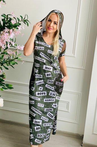 """Платье 7133 """"Н"""" (Хаки) - Дамит"""