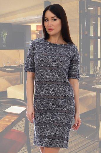 "Платье 10323 ""Н"" (Серый) - Дамит"