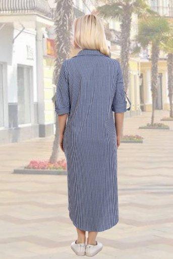 "Платье 10006 ""Н"" (Синий) (Фото 2)"