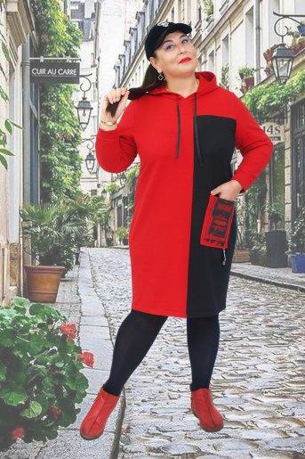 """Платье Тоскана """"Н"""" (Красный) - Дамит"""