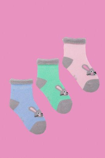 """Носки Кролик детские плюш (в упаковке 3 пары) """"Н"""" - Дамит"""